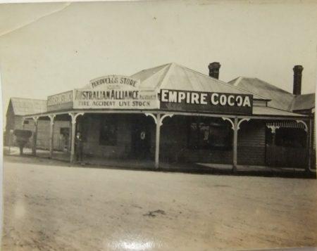 Hoopell's Store Cnr. Kennedy St & Flinders Rd. C1930