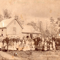 Longwarry School 1880's Courtesy Of Debbie Trennery