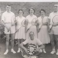 Longwarry Tennis Club Premiers Year Not Known L To R Unknown, Linda Sadler, Phyllis Ford, Unknown, Peter Johnson, In Front Unknown